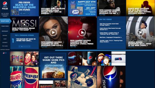 pepsi.com home page
