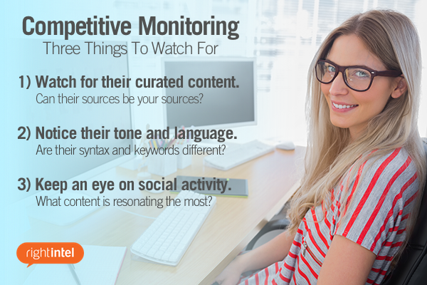 Three things to watch for when doing competitive monitoring