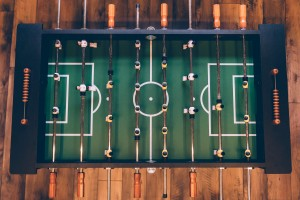 Come play foosball with us!